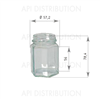 POT VERRE HEXAGONAL110ml TO48
