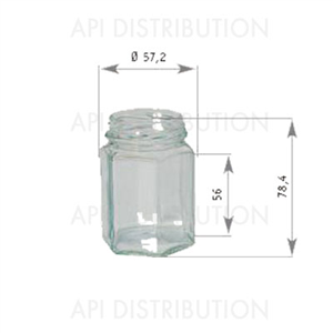 POT VERRE HEXAGONAL116ml TO48