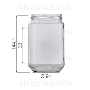 POT VERRE STANDARD 750ml TO82