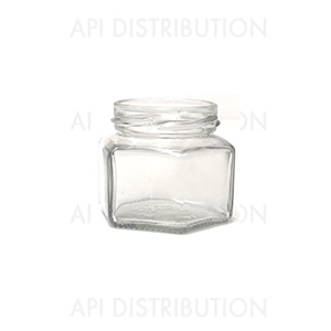POT VERRE HEXAGONAL 105ml TO53