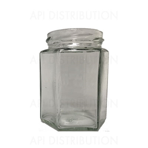 POT VERRE HEXAGONAL195ml TO58